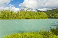 Summer scenic of Upper Kenai River near Cooper Lan