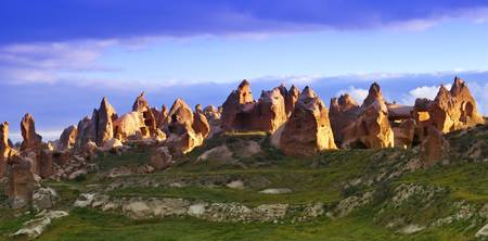 Fairy Chimney Rock Formations In Goreme National P