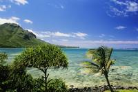 Hawaii, Oahu, Kahana Bay, Blue Sky, Clear Water An