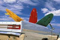 Colorful Surfboards In Vintage Plymouth Fury