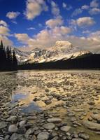 Mount Fryatt And The Athabasca River, Jasper Natio