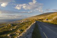 Road Along The Burren Coastline Region County Cla