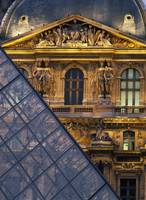 Detail Of The Glass Pyramid Outside The Louvre Mus