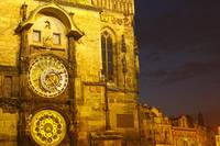 Night Lights Of The Astronomical Clock, The Old To