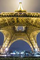 Eiffel Tower At Night,Low Angle View, Paris, Franc