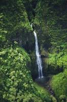 Hawaii, Kauai, Waterfall On The Interior Regions O
