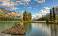 Spirit Island At Sunset, Maligne Lake, Jasper Nati