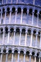 Closeup Of The Leaning Tower Of Pisa Tuscany Italy