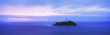 Lighthouse At Dusk Near St. Ives