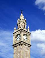 Low Angle View Of A Clock Tower, Albert Memorial C