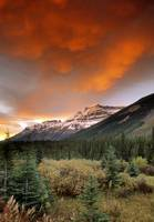 Mt. Amery And Dramatic Clouds, Banff National Park