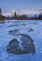 Moon And Ice Formations Along The Wheaton River, Y