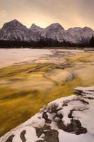 Athabasca River And Mt Fryatt, Jasper National Par