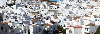 View Of A City Of Whitewashed Buildings Vejer De