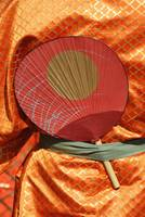 Japan, Performer Costume Detail At The Jidai Matsu