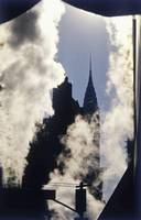 Steam And Silhouette Of Chrysler Building