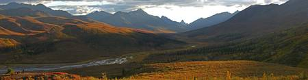 Panoramic Of Tombstone Lookout, Dempster Highway,