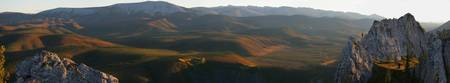 Panoramic Over Sapper Hill In Autumn, Dempster Hig