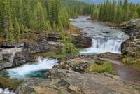 Waterfall In The Canadian Rocky Mountains Kananas