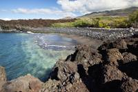 Hawaii, Maui, The remote Keawanaku Beach on the so