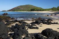 Hawaii, Maui, Volcanic rocks at Big Beach