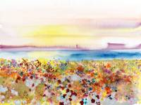 Field Of Joy, Abstract Landscape Of Bejeweled Fiel