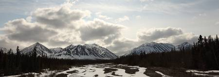 View Of Quill Creek In Kluane National Park Near H
