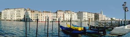 Panoramic Of Colourful Venetian Waterfront