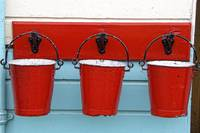 Three Red Buckets