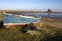 Boat On Shore, Near Holy Island, England