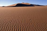 Sand Dunes Against Clear Sky In Namib-Naukluft Nat
