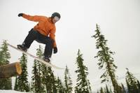 Snowboarder In Mid Air