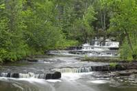 Cascading Falls Along A Creek Thunder Bay, Ontari
