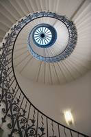 Looking Up At A Spiral Staircase London