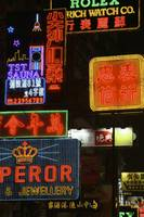 Neon Signs On Nathan Road, Close Up Hong Kong, Ch