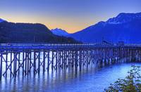 View Of Dock At Twilight, Haines, Southeast Alaska