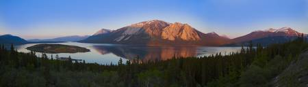 Bennett Lake And Nares Lake Carcross, Yukon Terri