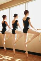 Three Women Practicing Dance