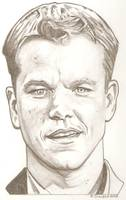 Matt Damon drawing