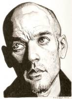 Michael Stipe drawing