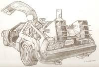 Delorean drawing