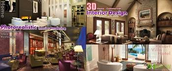 3D home Commercial Interior Design