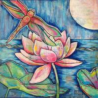 Lotus Dragonfly Moon