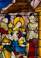 Window depicting the Adoration of the Kings