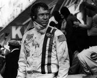 Steve McQueen in racing gear