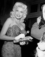 Jayne Mansfield signs autograph