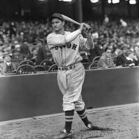 """Bobby Doerr warm up swing"" by RetroImagesArchive"