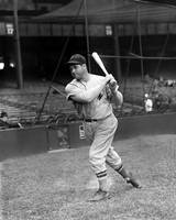 Jimmie Foxx Red Sox batting follow through
