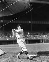 Goose Goslin swings pre game