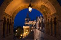 Hungary - Budapest- Fisherman's Bastion at blue ho